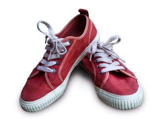 Pair vintage red shoes
