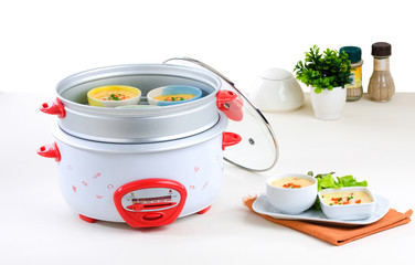 Electric steaming and casserole pot a useful kitchenware