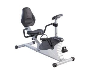 Cycling exercise tool on white background