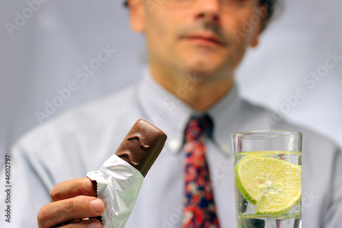 man in tie having a break