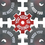 You Keep Us Moving Gears Turning Essential Team Player poster