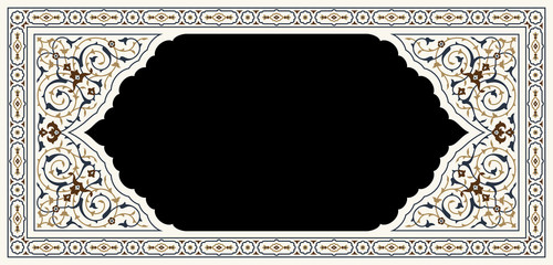 Agra Complex Floral Frame Two
