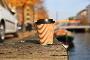 coffee cup in the city
