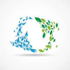 Green recycling background # Vector
