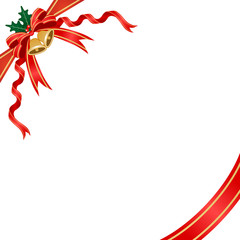 Christmas decoration, ribbon and bell