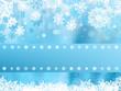 Blue christmas snowflake. EPS 8