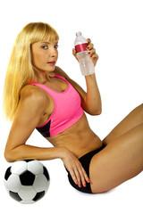 thirsty female athlete