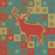 Winter deer seamless background. EPS 8