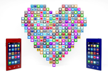 App icons in heartshape