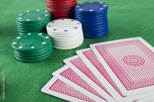 Gambling Chips and Cards