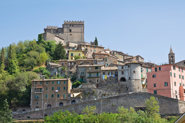 Panoramic view of Soriano nel Cimino. Lazio. Italy.