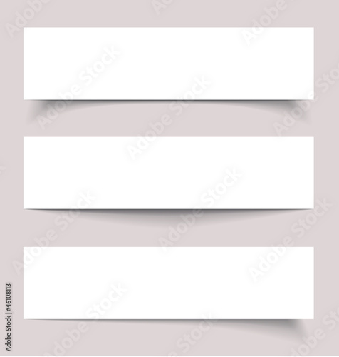 Banners with shadows, vector illustration