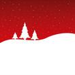 Weihnachten - Hintergrund - Bäume - Sterne - Rot/weiß