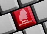 Umriss: Baden-Württemberg auf Computer Tastatur