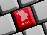 Umriss: Bayern auf Computer Tastatur