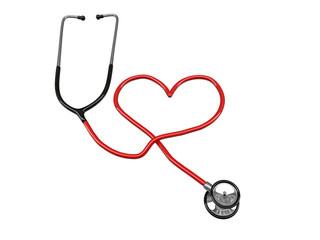 stethoscope heart silhouette