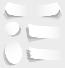 The white vector illustration of advertising coupons .