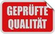 Sticker rot eckig curl oben GEPRÜFTE QUALITÄT
