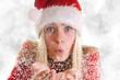 Süßer Nikolaus pustet Schneekristalle