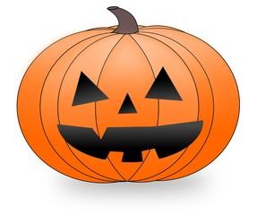 Halloween pumpkin head.