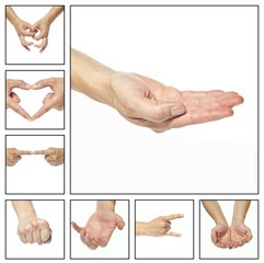 Collage - hands that indicate something