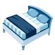 illustration of bed on white background