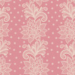 old white elegant doily on lace pink background.