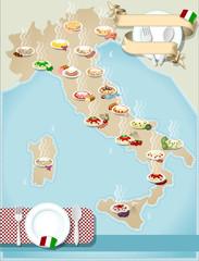 Map of Italian's pasta