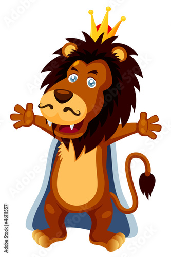 illustration of King lion cartoon vector