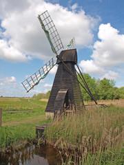 17th century wooden wind driven fen drainage pump.