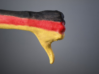 Hand painted with the flag of Germany 03