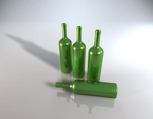 Weinflasche Grün