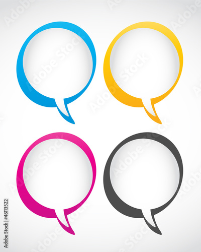 set of speech bubbles vector