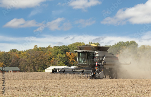 Harvesting Soybean Crop