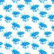 Seamless texture background of blue gift wrap boxes, pattern