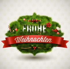 Frohe Weihnachten-Creative Christmas Label