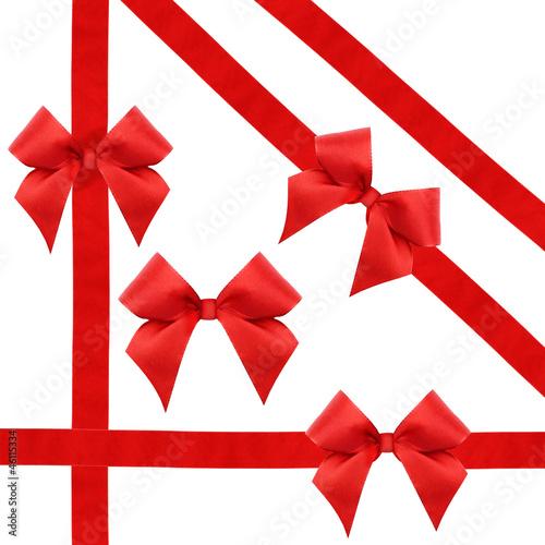 Rote Schleifen und Bänder