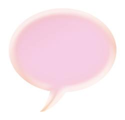 3d pink callout shape