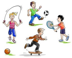 Kinder Sport und Spiel I