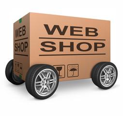 web shop cardboard box