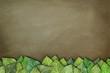 Blätter auf Tafel