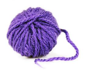 Ball of intense purple wool or yarn