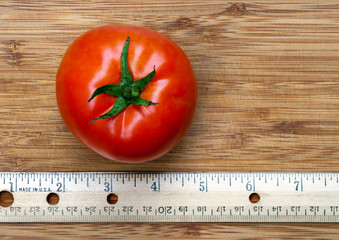 Red Tomato with Ruler