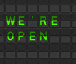 We Are Open Flip Board