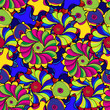 Psychedelic abstract seamless pattern