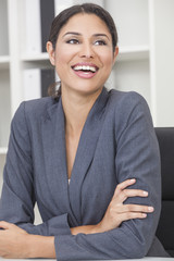 Hispanic Latina Woman or Businesswoman Laughing