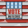 Background of Voting theme. Vector illustration