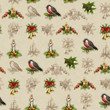 Vintage seamless christmas pattern