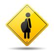 Señal amarilla simbolo embarazada