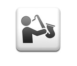 Boton cuadrado blanco simbolo saxofonista